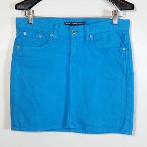 Ralph Lauren Sport Turquoise Denim Jeans Skirt EUC